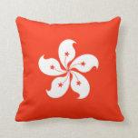 Hong Kong Flag Cushion Pillows