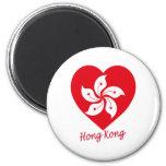 Hong Kong Flag Heart Refrigerator Magnet