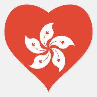 Hong Kong Flag HK Heart Sticker