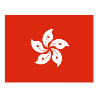 Hong Kong Flag HK Postcard