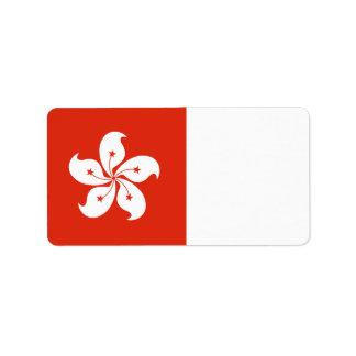Hong Kong Flag Label