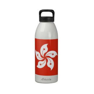 Hong Kong Flag Liberty Bottle Water Bottles
