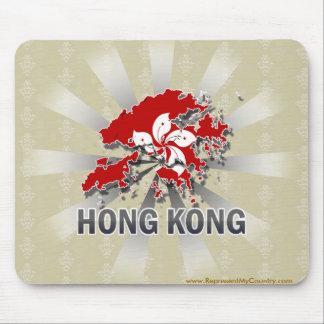 Hong Kong Flag Map 2.0 Mouse Pads