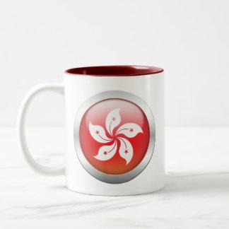 "Hong Kong Flag ""Orb"" Two-Tone Coffee Mug"