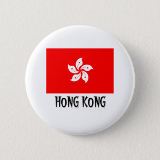 Hong Kong Flag Pinback Button