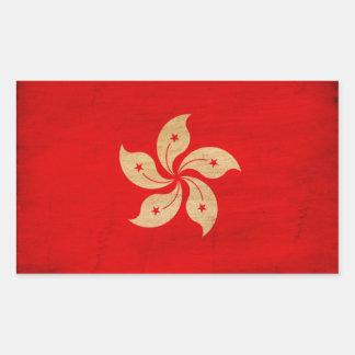 Hong Kong Flag Rectangular Sticker