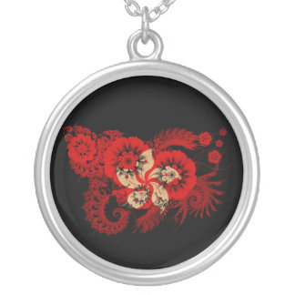 Hong Kong Flag Round Pendant Necklace