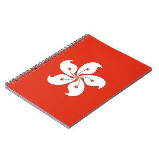 Hong Kong Flag Spiral Notebook