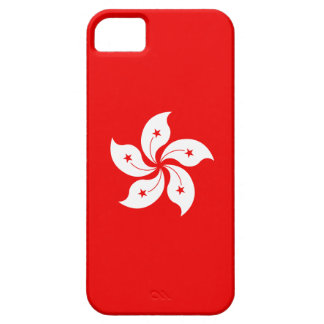 Hong Kong Flag White Orchid Symbol on red iPhone SE/5/5s Case