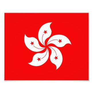 Hong Kong Flag White Orchid Symbol Photo Print