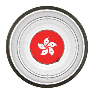 Hong Kong Flag White Orchid Symbol Pet Bowl