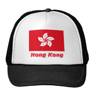 Hong Kong Flag with Name Trucker Hat