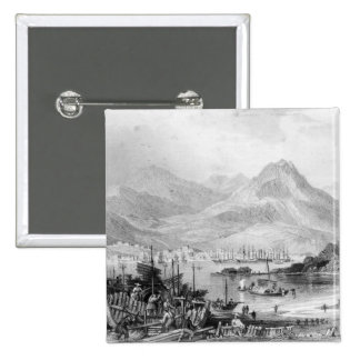 Hong-Kong from Kow-loon Pinback Button