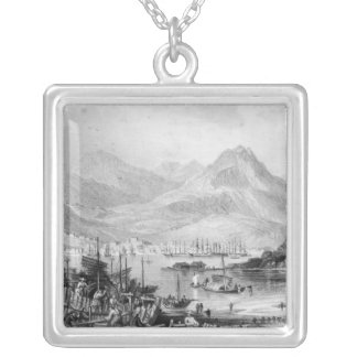 Hong-Kong from Kow-loon Square Pendant Necklace