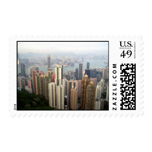 Hong Kong from the peak Postage