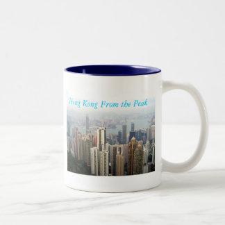 Hong Kong From The Peak Two-Tone Coffee Mug