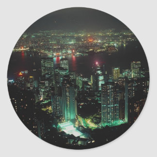 Hong Kong from Victoria Peak Round Stickers