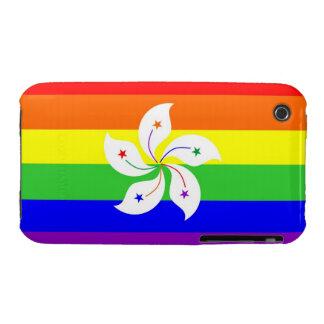 hong kong gay proud rainbow flag homosexual Case-Mate iPhone 3 case