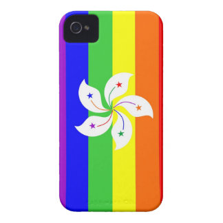 hong kong gay proud rainbow flag homosexual Case-Mate iPhone 4 case
