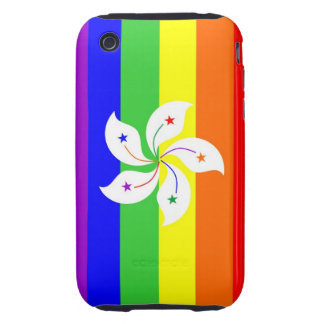 hong kong gay proud rainbow flag homosexual tough iPhone 3 cover