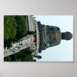Hong Kong gigante que sienta a Buda Poster