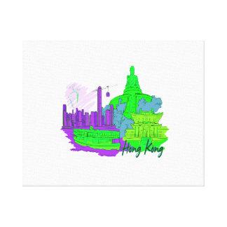 hong kong  green 2 city image.png canvas print