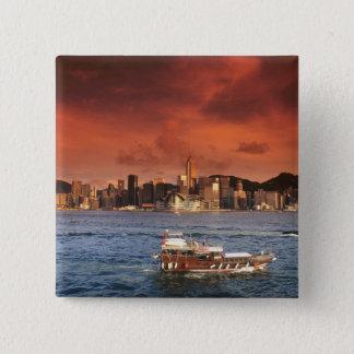 Hong Kong Harbor at Sunset Button