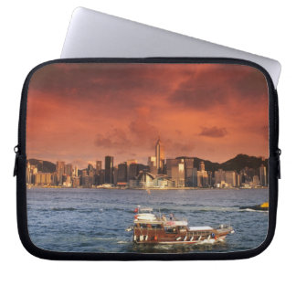 Hong Kong Harbor at Sunset Laptop Sleeve