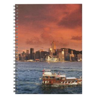 Hong Kong Harbor at Sunset Notebook