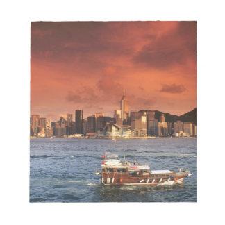 Hong Kong Harbor at Sunset Notepad