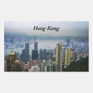 Hong Kong Harbor Mists Rectangular Sticker