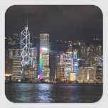 Hong Kong Harbour at night Square Sticker