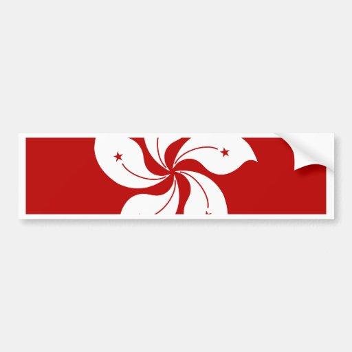 Hong Kong High quality Flag Bumper Sticker
