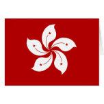 Hong Kong High quality Flag Greeting Card