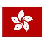Hong Kong High quality Flag Postcard