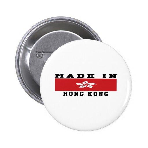 Hong Kong hizo en diseños Pins