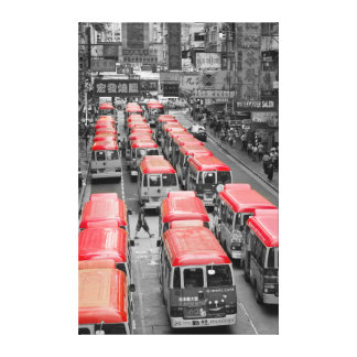 Hong Kong in Two Tones Canvas Print