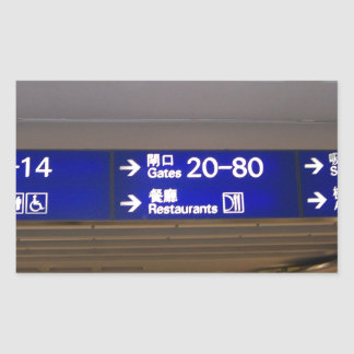 Hong Kong International Airport Rectangular Sticker