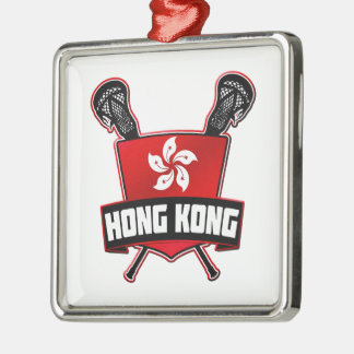 Hong Kong Lacrosse Metal Ornament