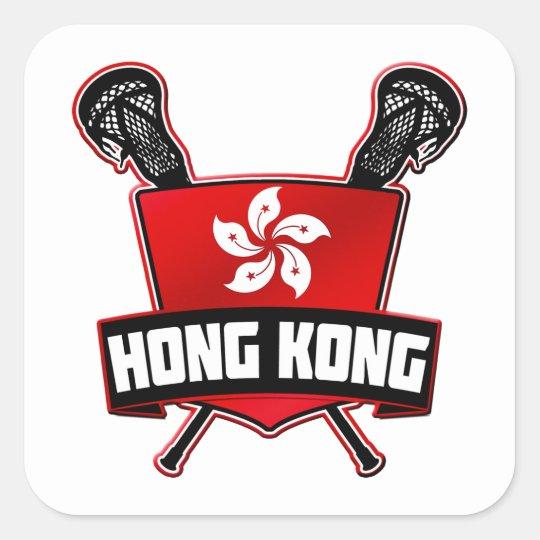 Hong Kong LaCrosse Pegatina Cuadrada