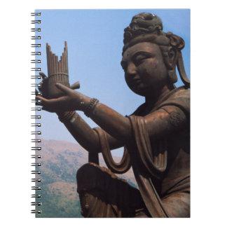 Hong Kong, Lantau Island, Po Lin Monastery Spiral Notebook