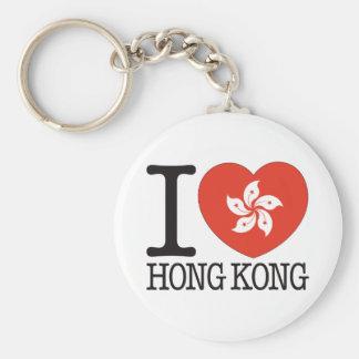 Hong Kong Love v2 Basic Round Button Keychain