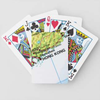Hong Kong Map Bicycle Playing Cards