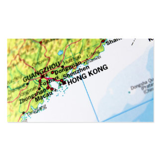 Hong Kong Map Business Card