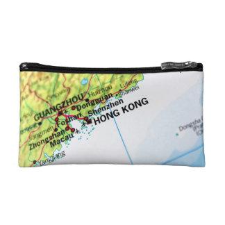 Hong Kong Map Makeup Bag