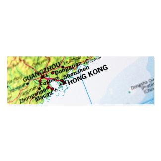 Hong Kong Map Mini Business Card