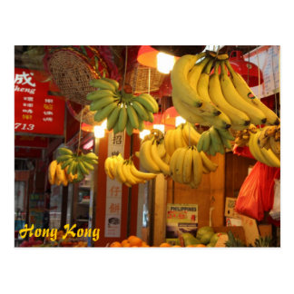 Hong Kong Market Postcard