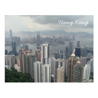 Hong Kong Mountain Peak Postcard