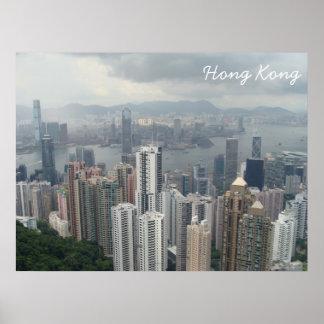 Hong Kong Mountain Peak Poster