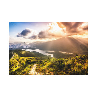 Hong Kong Mountainscape Canvas Print